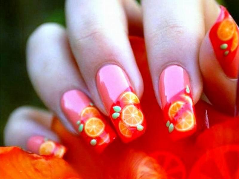 Summer nails 2014 orange