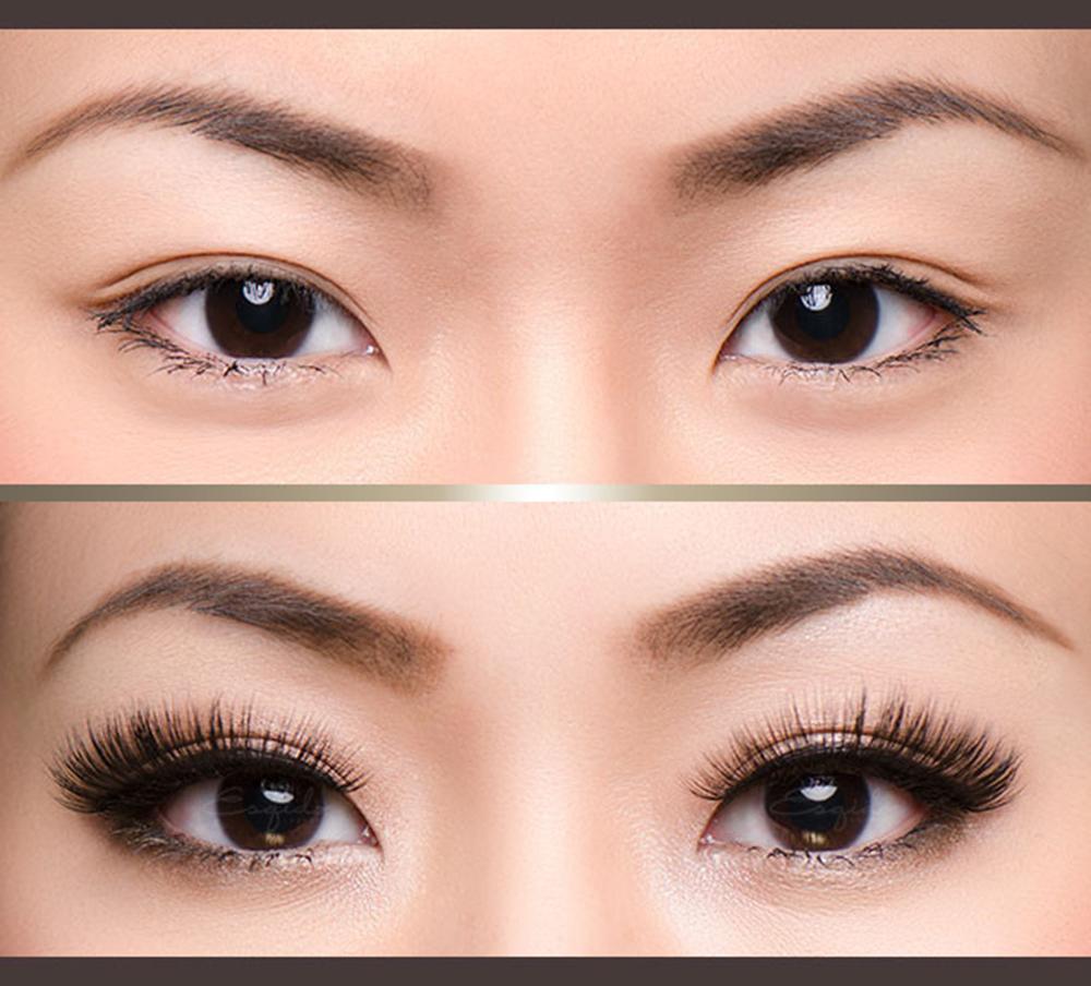 Наращивание ресниц на азиатских глаз фото