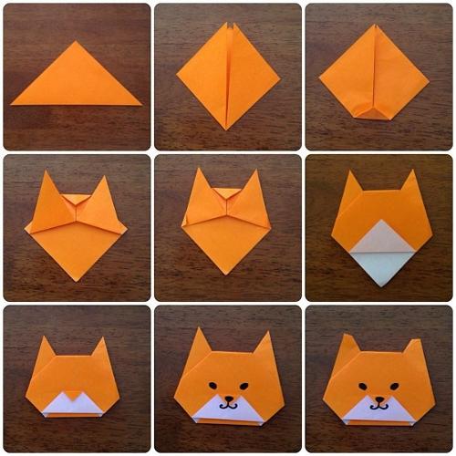 Как сделать кошку оригами