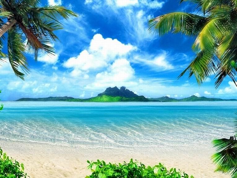 Открытки с морем и пляжем