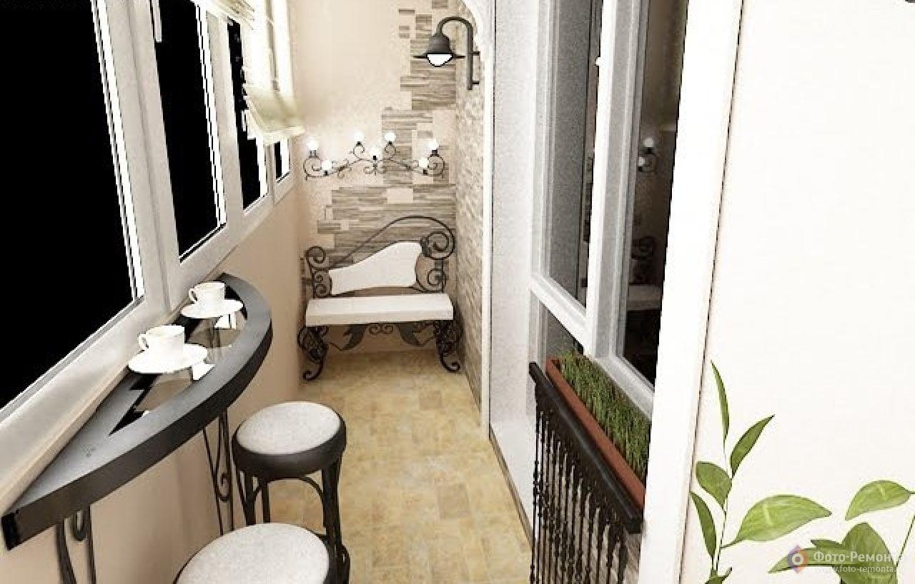 Креативный дизайн маленького балкона - фото дизайн интерьера.